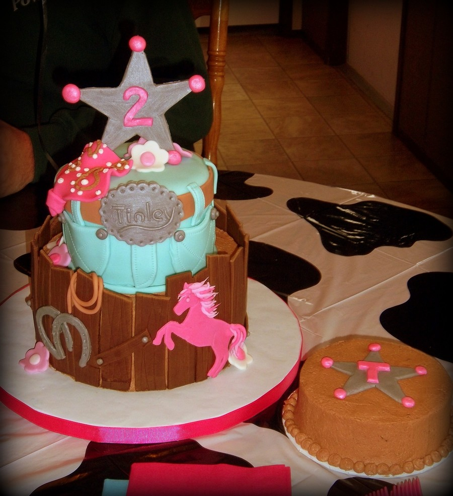 Cowgirl Cake And Smash Cake The Birthday Girl Was Allergic