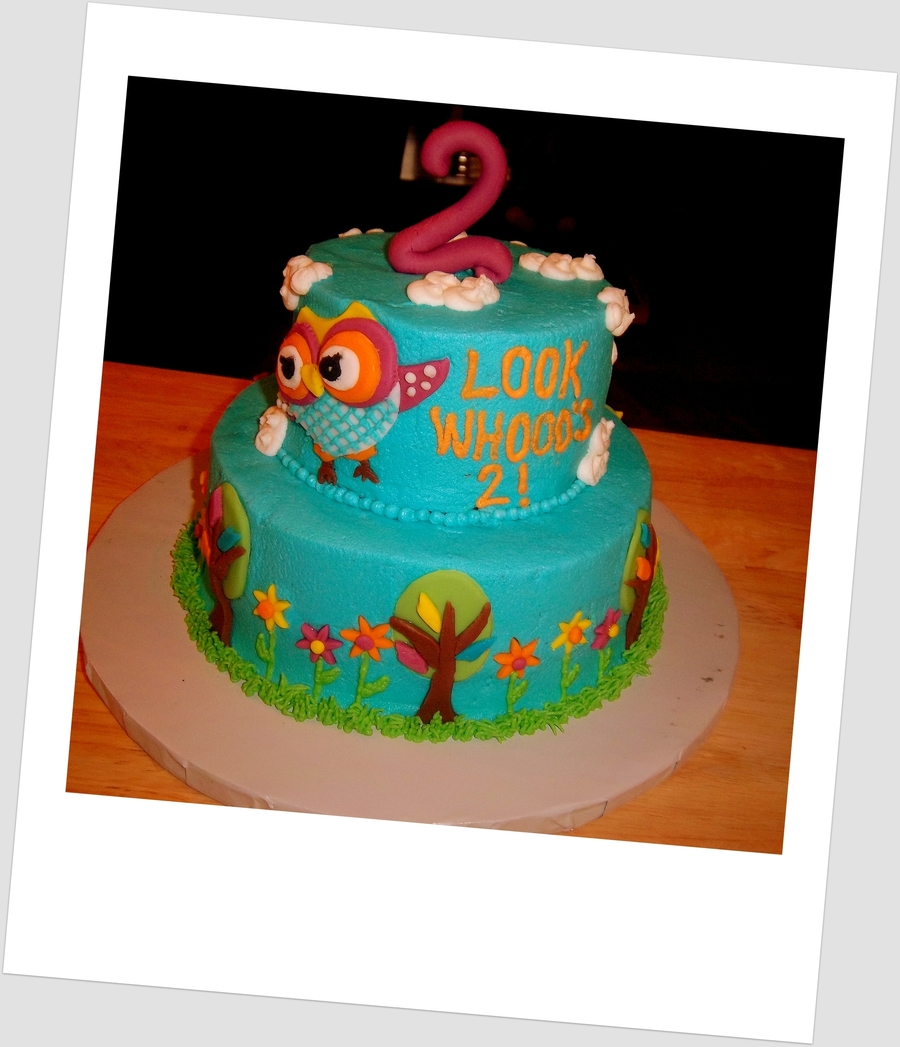 """look Whooo""s Two"" on Cake Central"