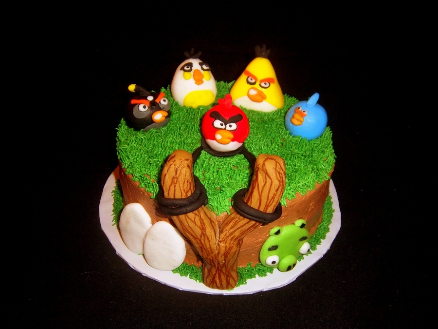 Angry Birds Birthday All Accents Are Fondant on Cake Central