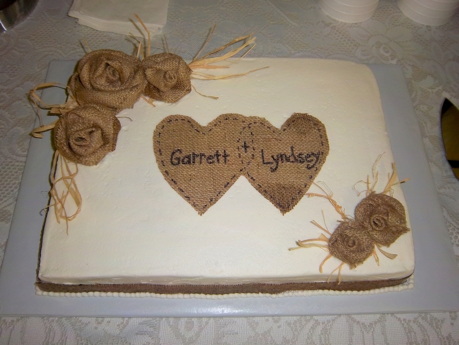 Sheet Cake Designs For Wedding Shower : Country Themed Wedding Shower - CakeCentral.com