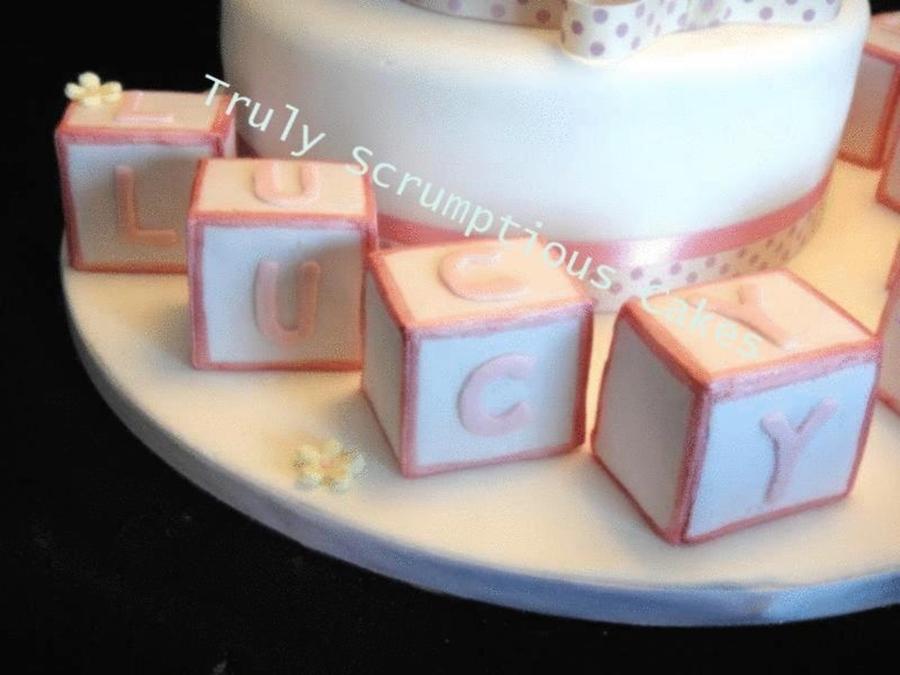Name Block Christening - CakeCentral.com