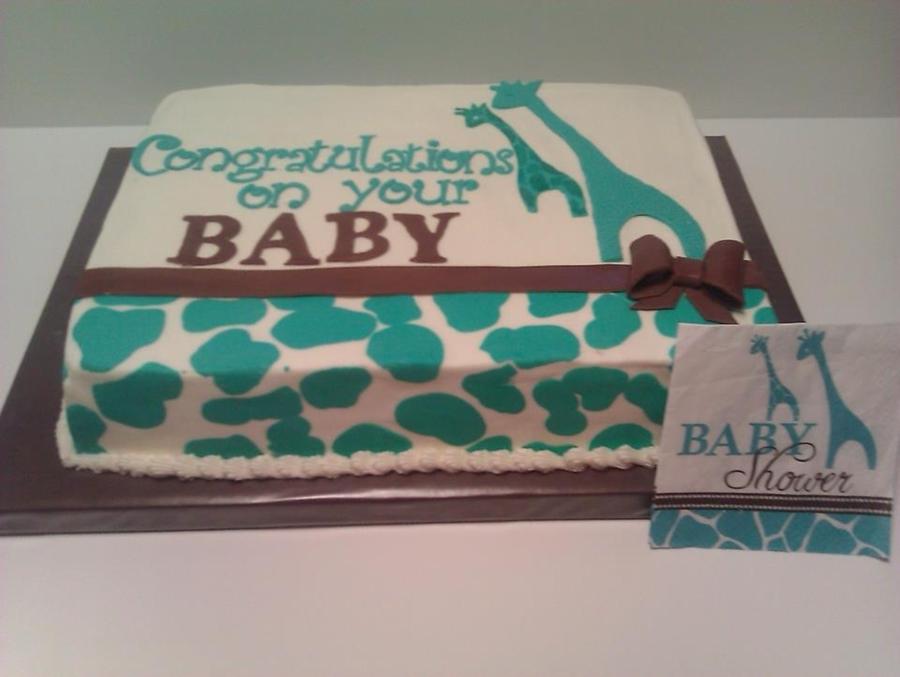 Giraffe Baby Shower Cake On Cake Central