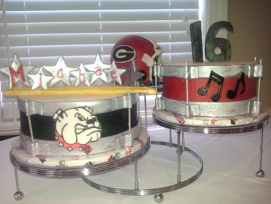 Georgia Drums on Cake Central