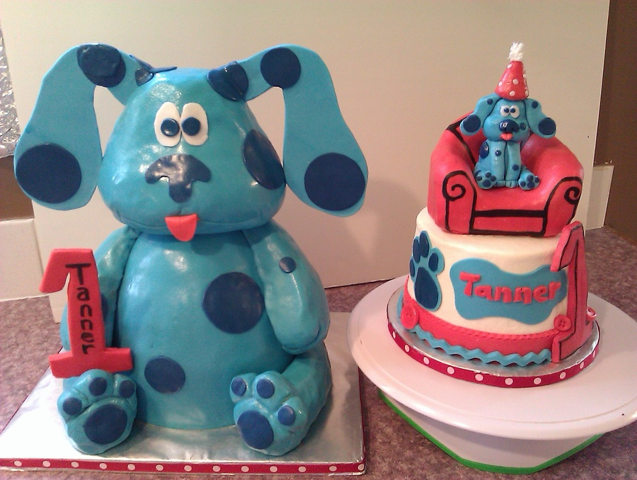 Happy 1St Birthday Blues Clues on Cake Central