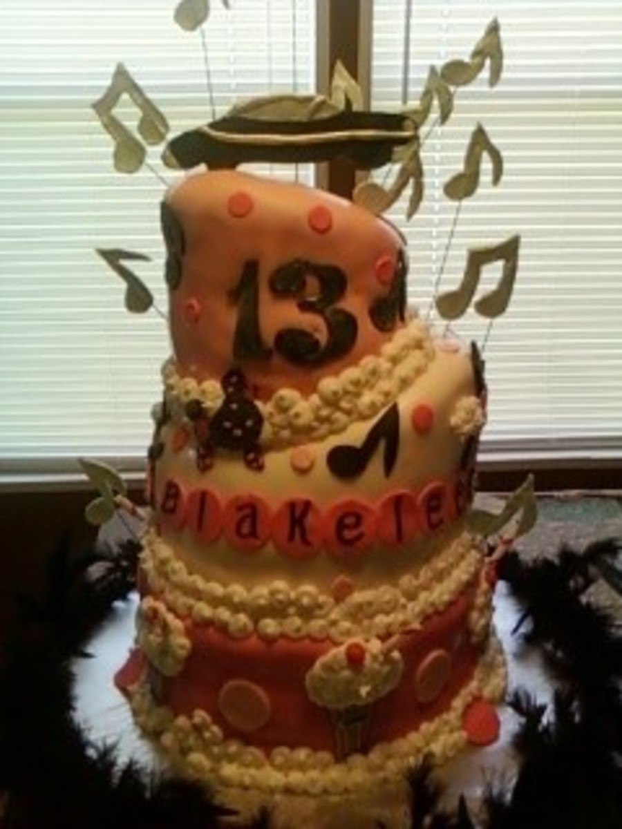 Admirable 50S Themed Birthday Cake For 13 Year Old Cakecentral Com Funny Birthday Cards Online Inifodamsfinfo