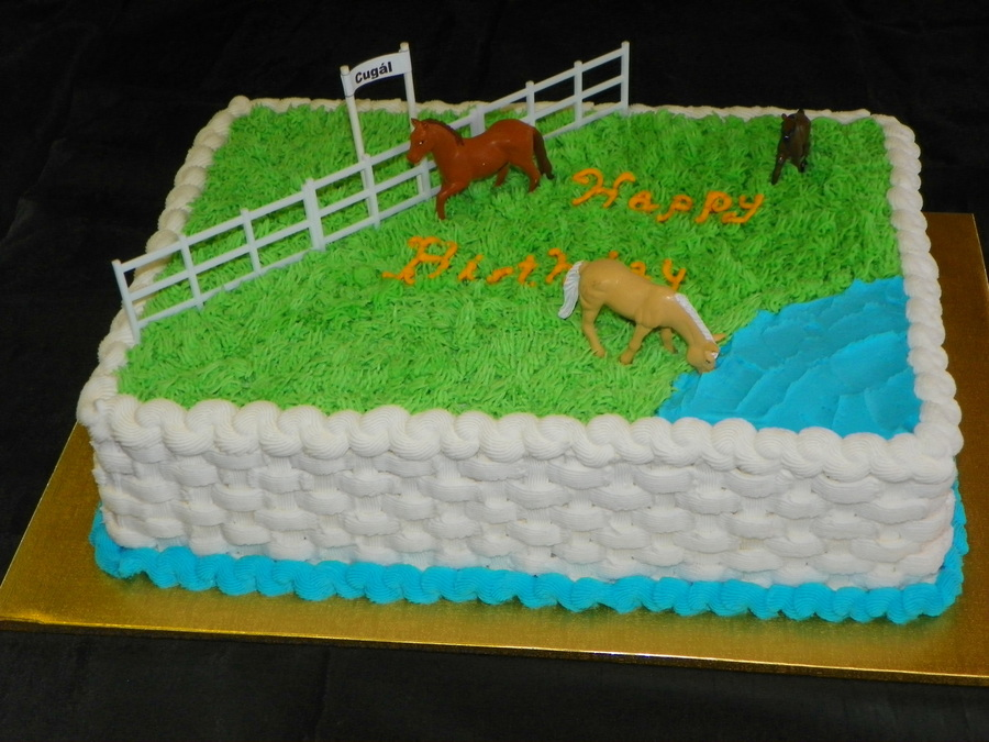 A Birthday Cake For An Older Romanian Gentleman Who Still Recalls His Boyhood Life In Romania And His Favorite Horse Cugal on Cake Central