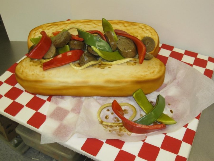 Italian Sausage Hoagie on Cake Central