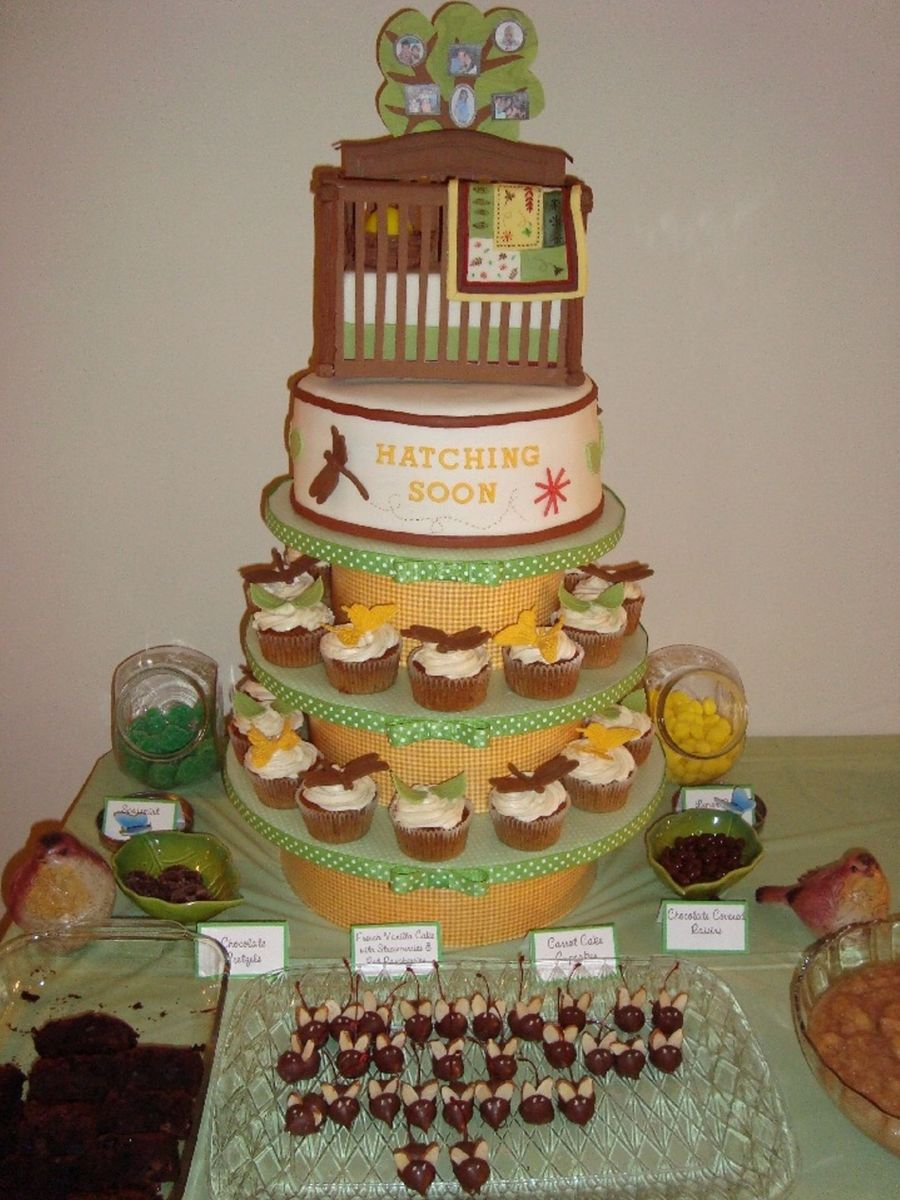Nature Theme Baby Shower Cake Cakecentral Com