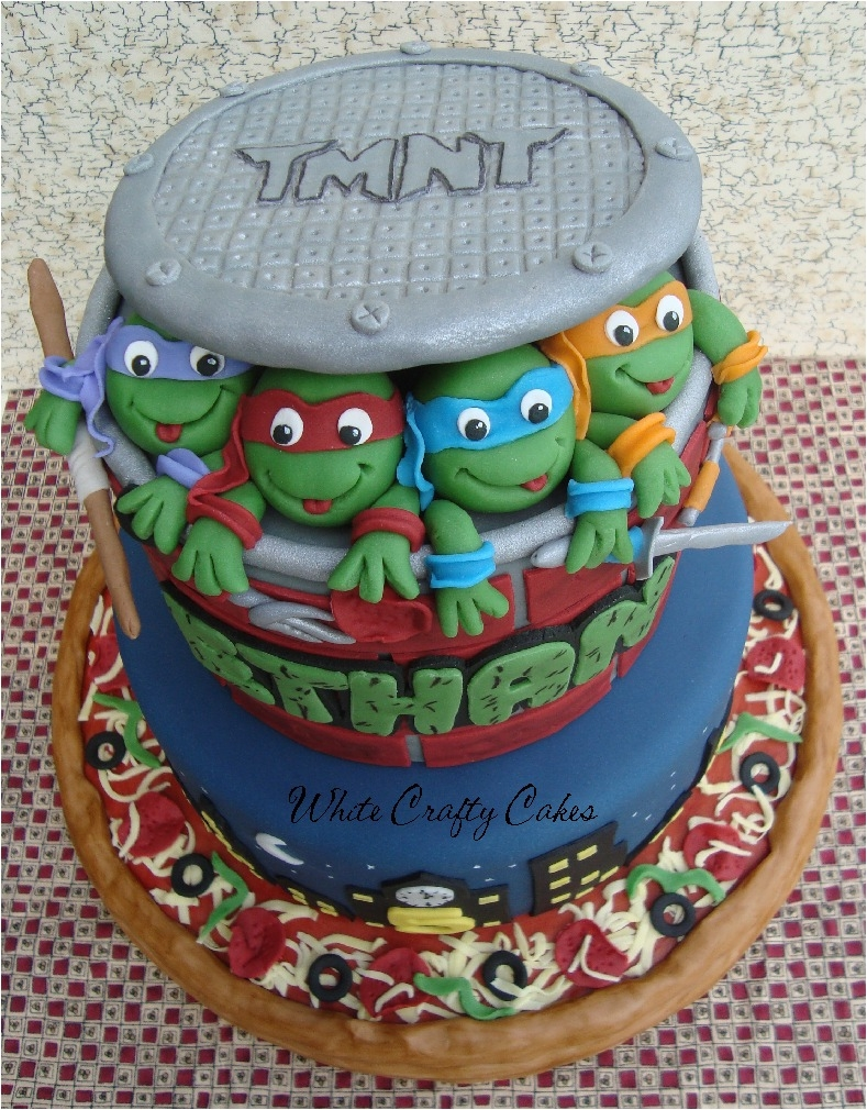Teenage mutant ninja turtles cake for Tmnt decorations