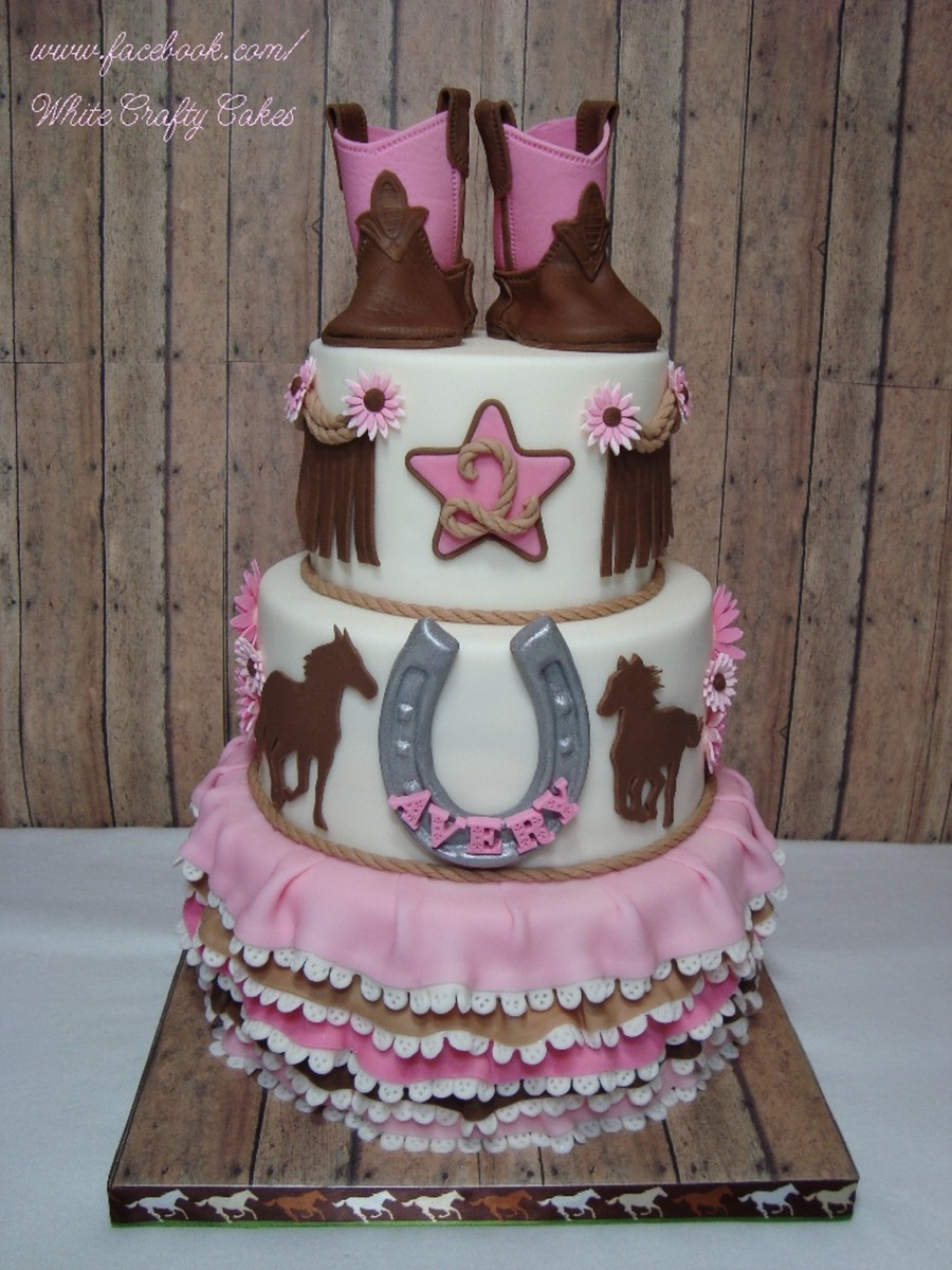 Little Cowgirl Baby Shower Cake