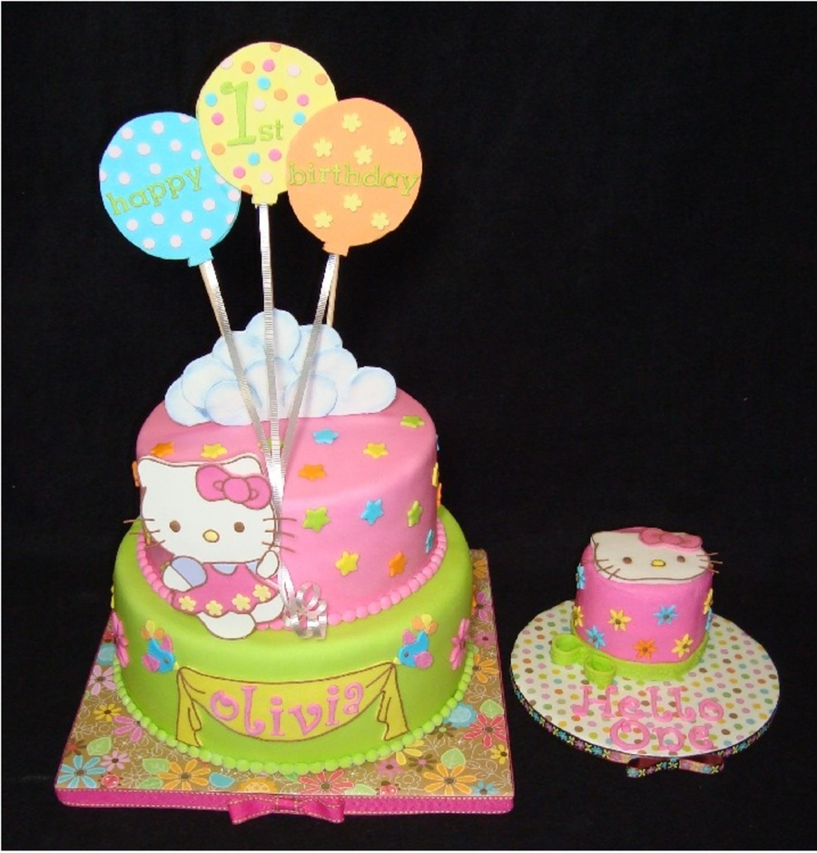 Hello Kitty First Birthday Cakecentral Com
