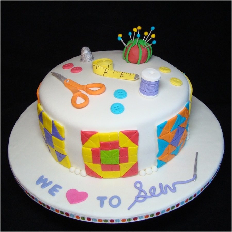 Quilting Cake Designs : Sewing/quilting Cake - CakeCentral.com
