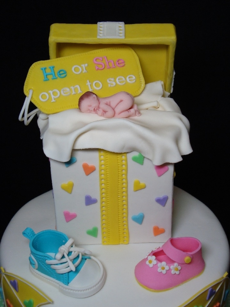 Gender Reveal Cake Cupcake Tower Cakecentral