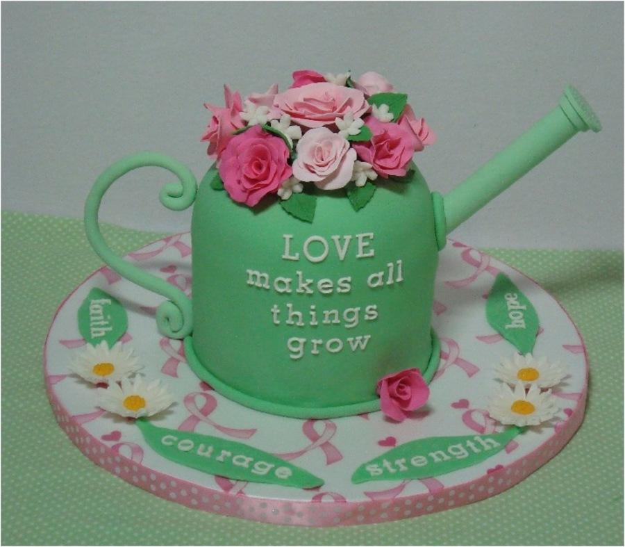 Watering Can Cake  on Cake Central
