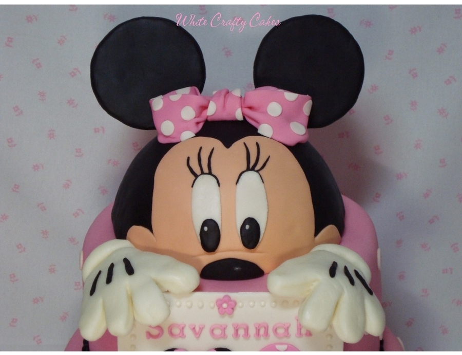 Pleasing Minnie Mouse Cake Cakecentral Com Funny Birthday Cards Online Barepcheapnameinfo
