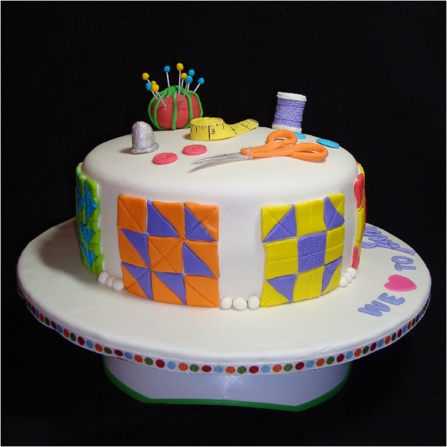 Quilting Cake Decorating : Sewing/quilting Cake - CakeCentral.com