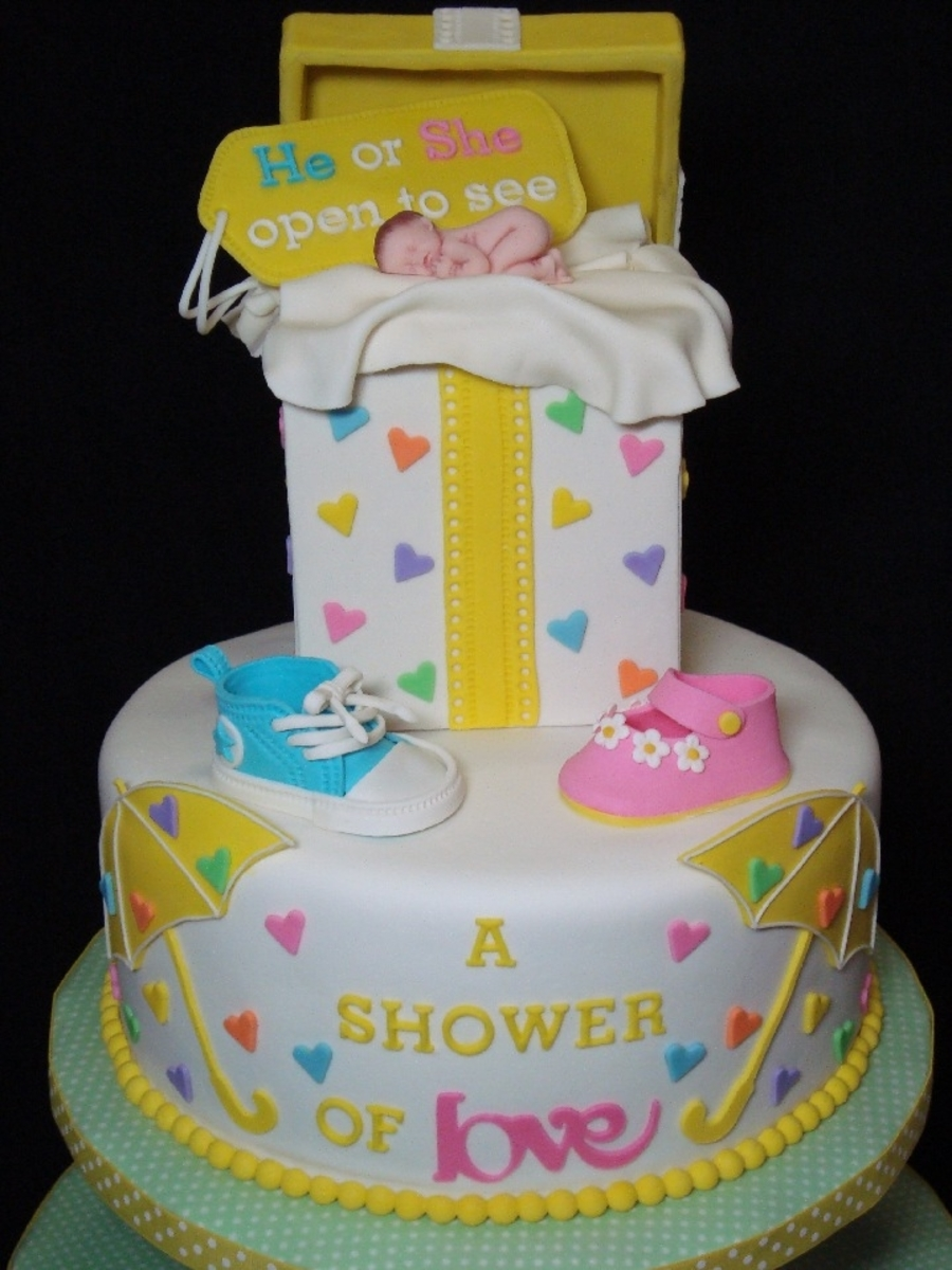 Gender Reveal Cake Amp Cupcake Tower Cakecentral Com