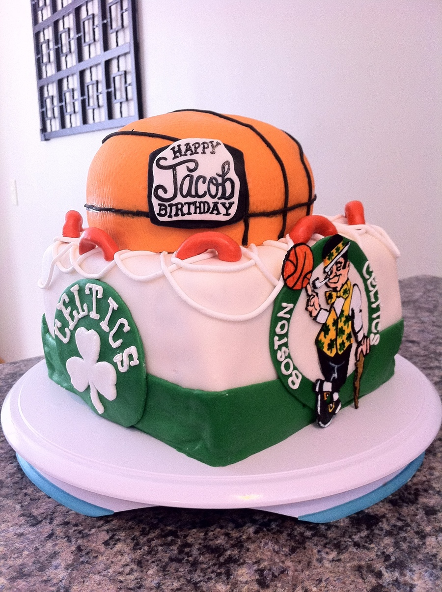Boston Celtics Basketball Cake On Central