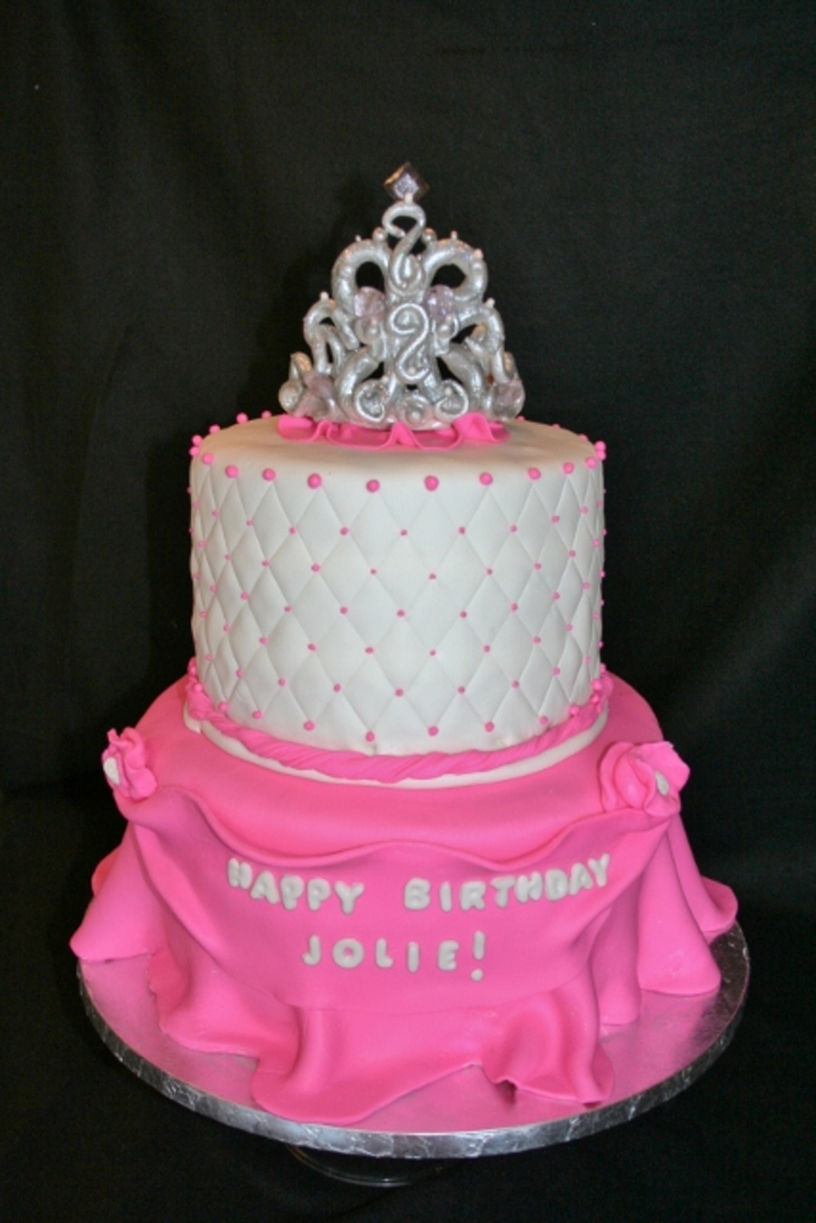 Pink Princess Tiara Cake on Cake Central