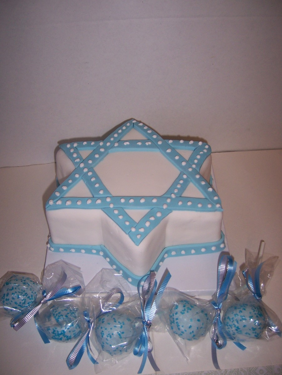 Chanukah Cake And Cake Pops on Cake Central