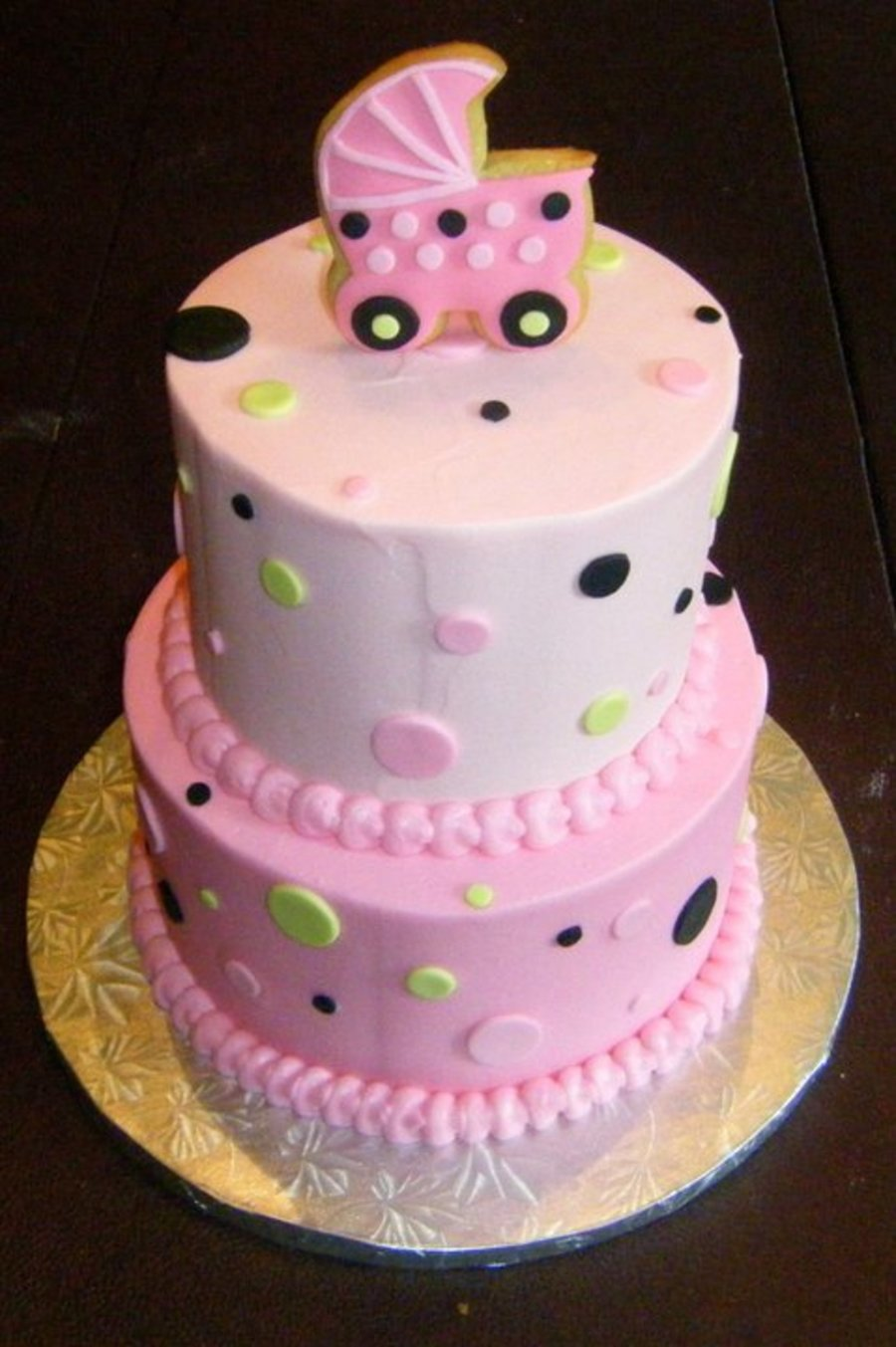 Tiered Baby Shower Cake on Cake Central