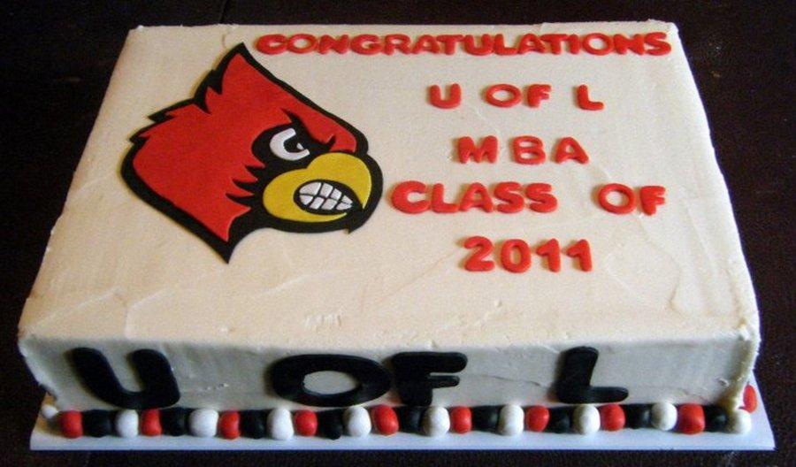 Uofl Imba Graduation Cake - CakeCentral.com