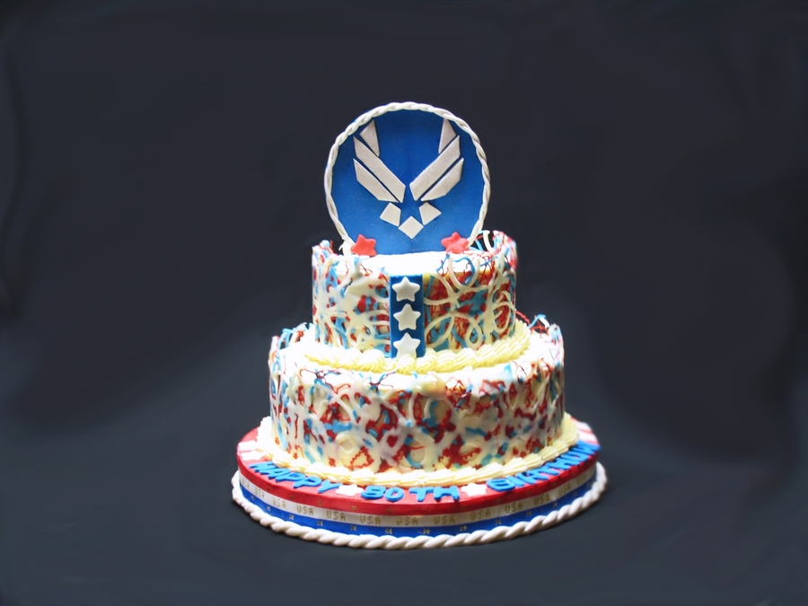 Air force birthday cake for Air force cakes decoration