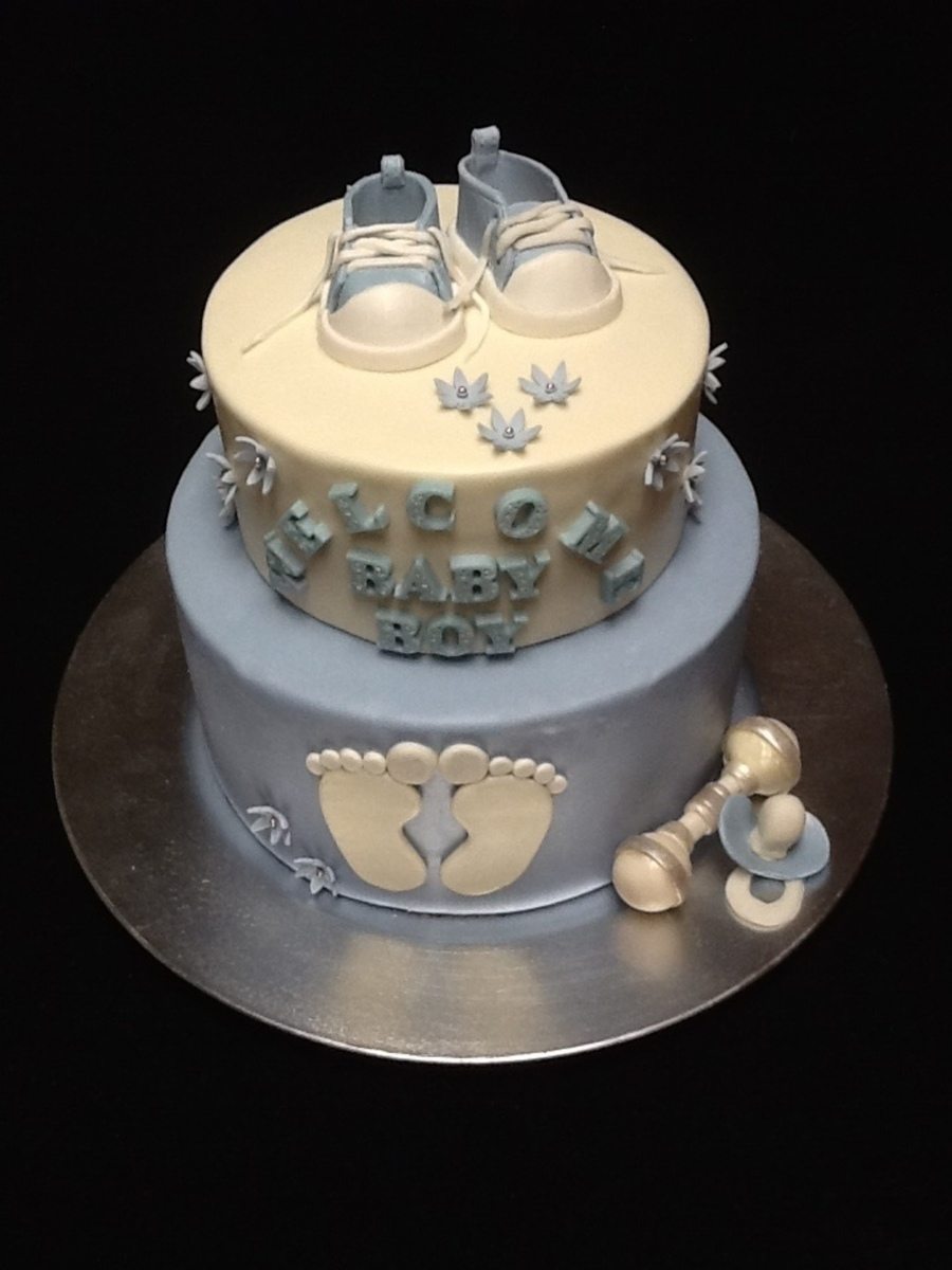 Baby Boy Shower Cake on Cake Central