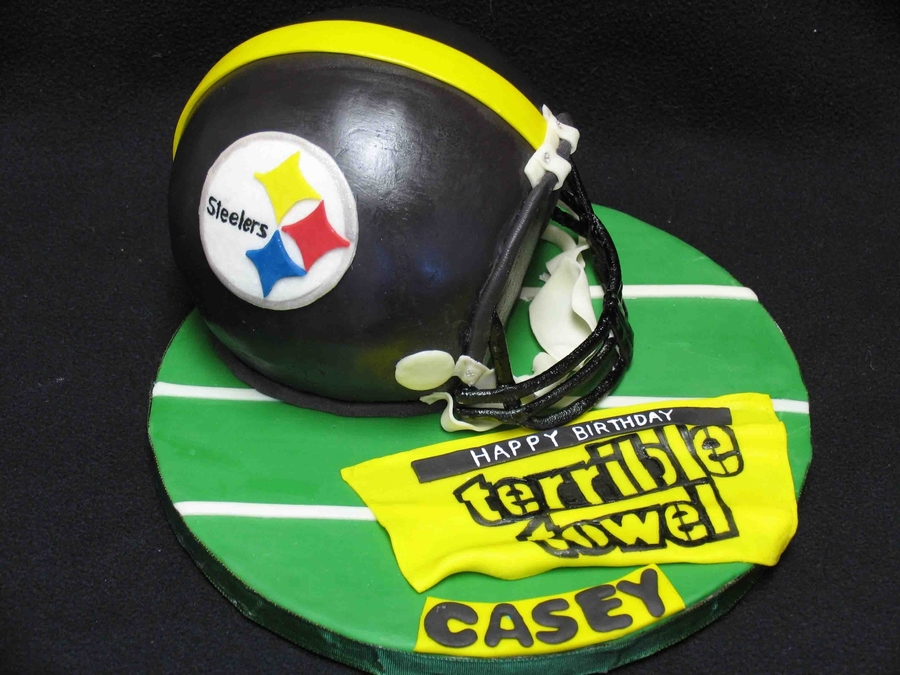 Steelers Helmet on Cake Central