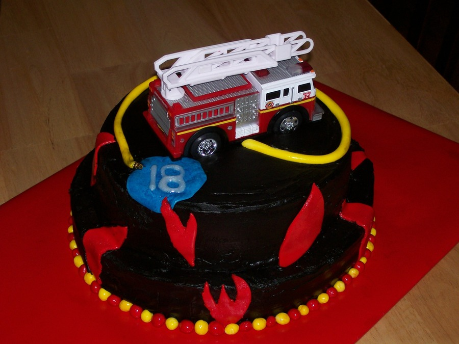 Firefighter 18Th Birthday on Cake Central
