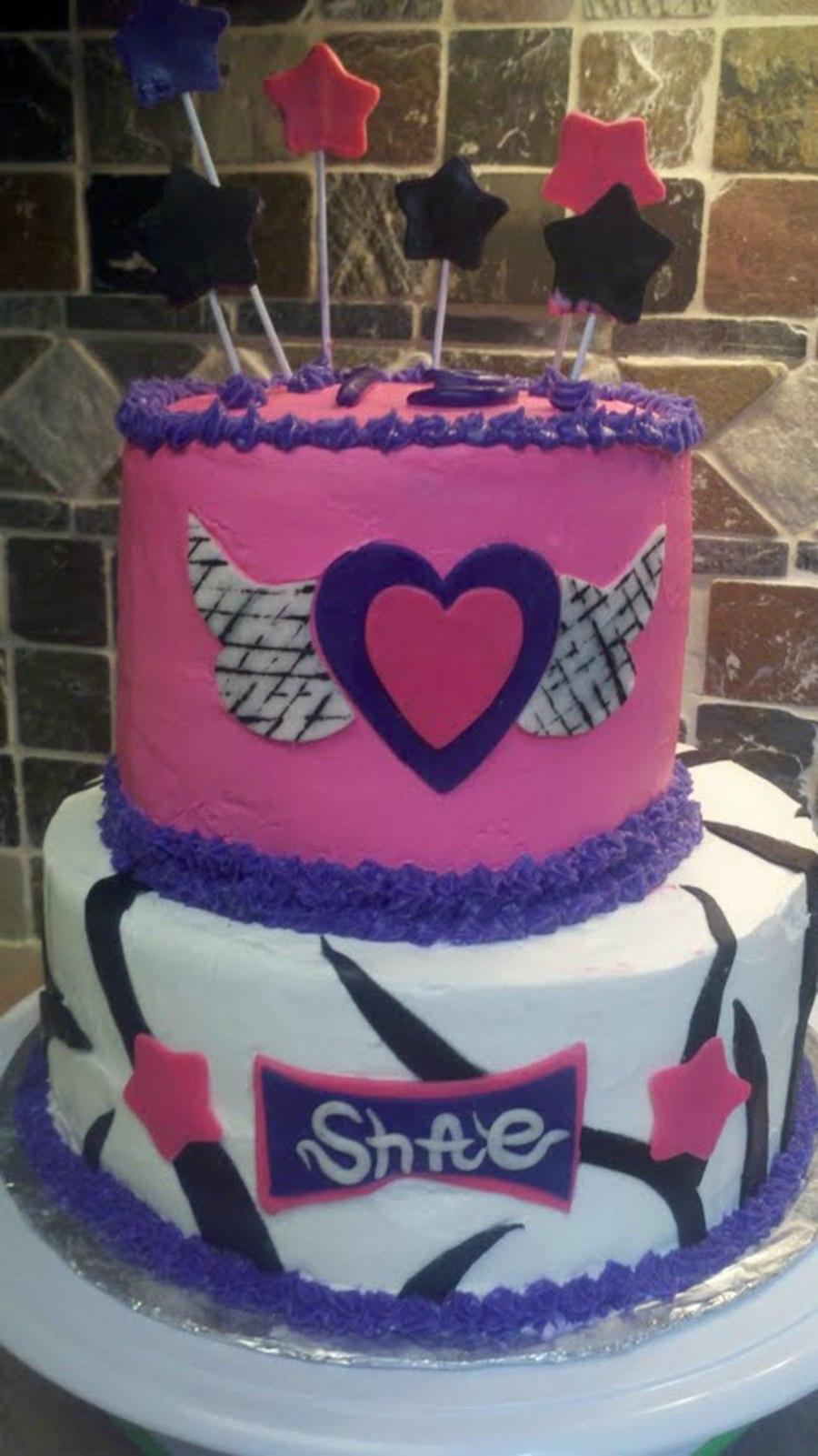 Remarkable Shaes Rock Star Birthday Cake Cakecentral Com Funny Birthday Cards Online Kookostrdamsfinfo
