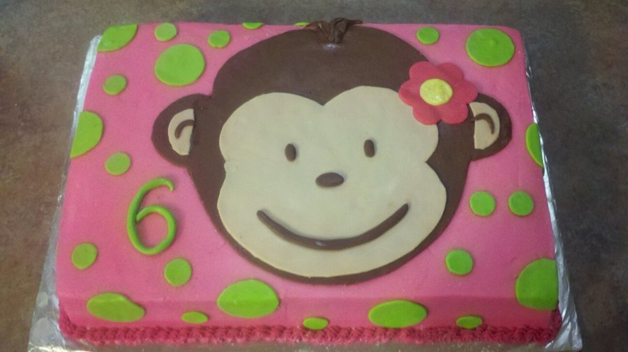 monkey birthday cake template - mod monkey girl 39 s 6th birthday cake