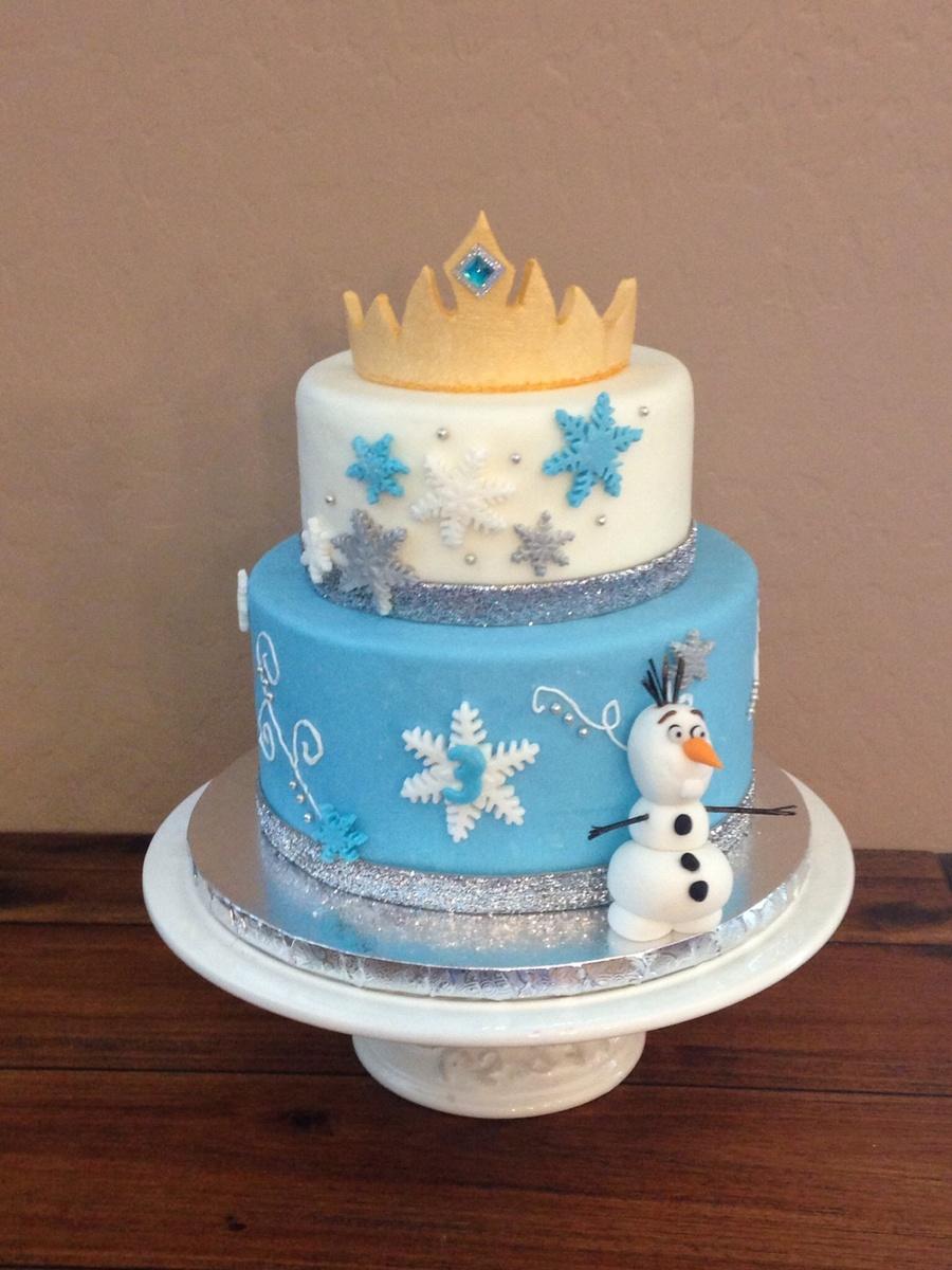 My Frozen Inspired Cake Fondantgum Paste Crown Fondant And ...