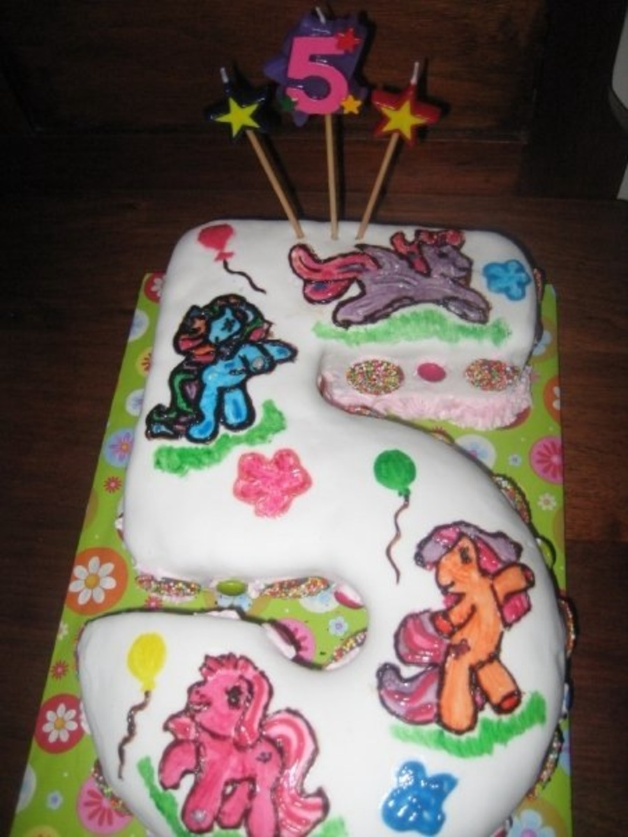 Stupendous Number 5 My Little Pony Birthday Cake Cakecentral Com Personalised Birthday Cards Akebfashionlily Jamesorg