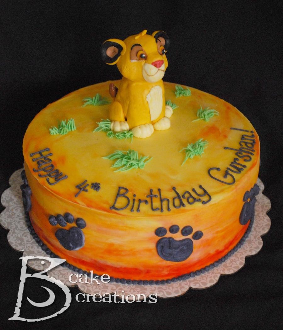 Lion King Baby Cake