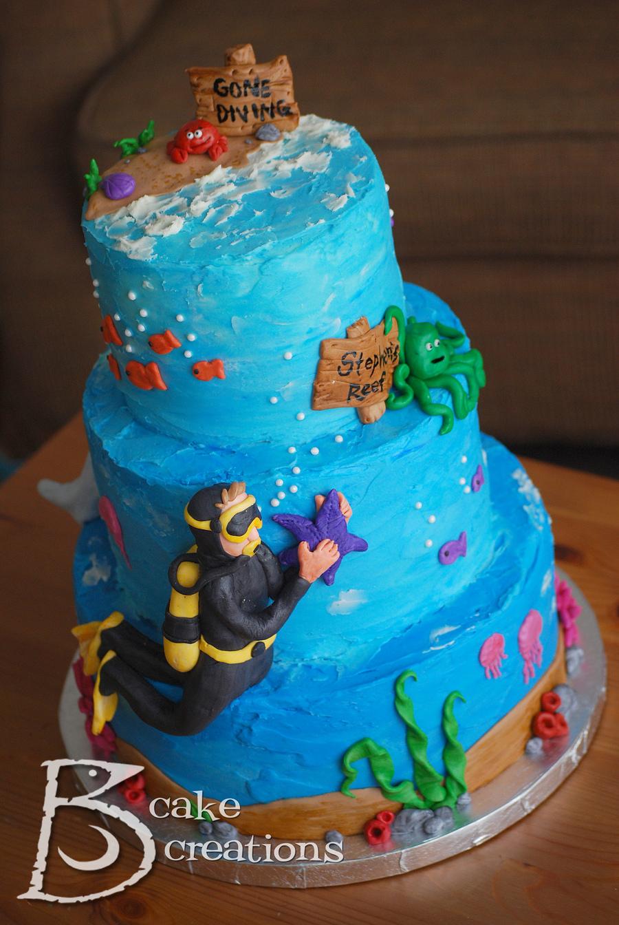 Scuba Diving Grooms Cake Cakecentral Com