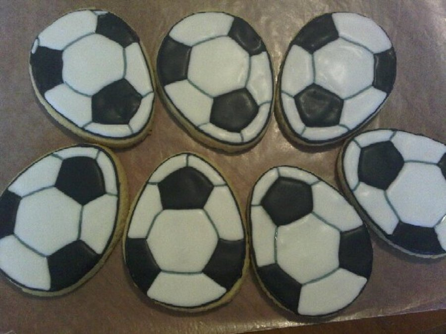 Football Easter Egg Cookies on Cake Central