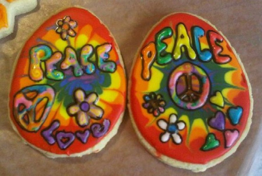 Hippie Cookies :) on Cake Central