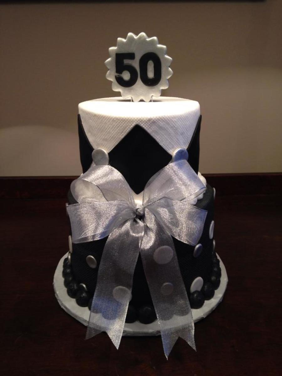 Prime 50Th Birthday Cake In Black And Silver Theme Cakecentral Com Personalised Birthday Cards Epsylily Jamesorg