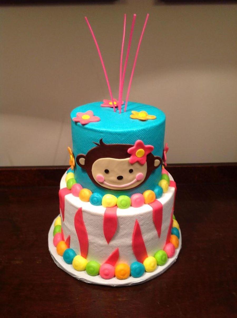 Surprising Monkey Themed Birthday Cake Made To Match Birthday Invitation And Personalised Birthday Cards Xaembasilily Jamesorg
