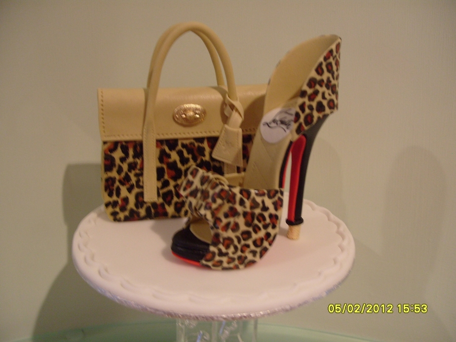Cheetah Print Purse Cake