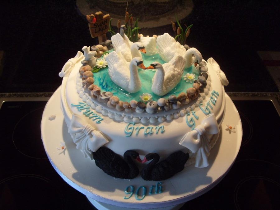Swan Lake Birthday Cake Cakecentral Com