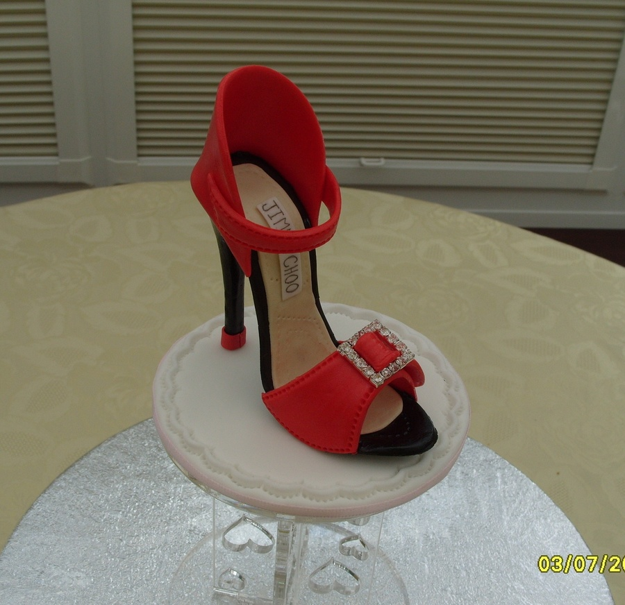 Red Hot Sugar Shoe 'vera'  on Cake Central