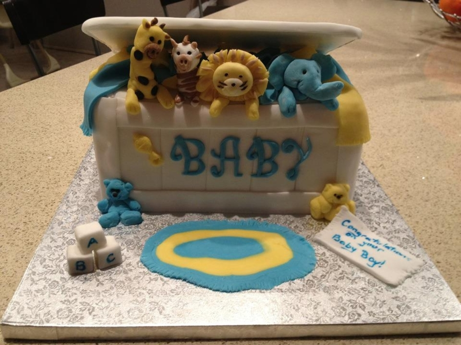 Toy Box Cake With Jungle Animals on Cake Central