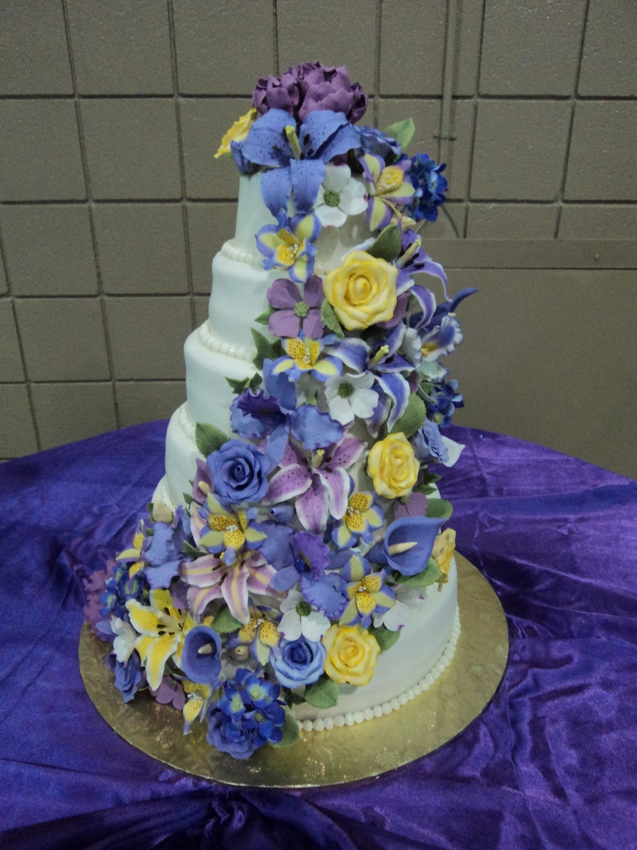 Quinceanera Floral Cake on Cake Central