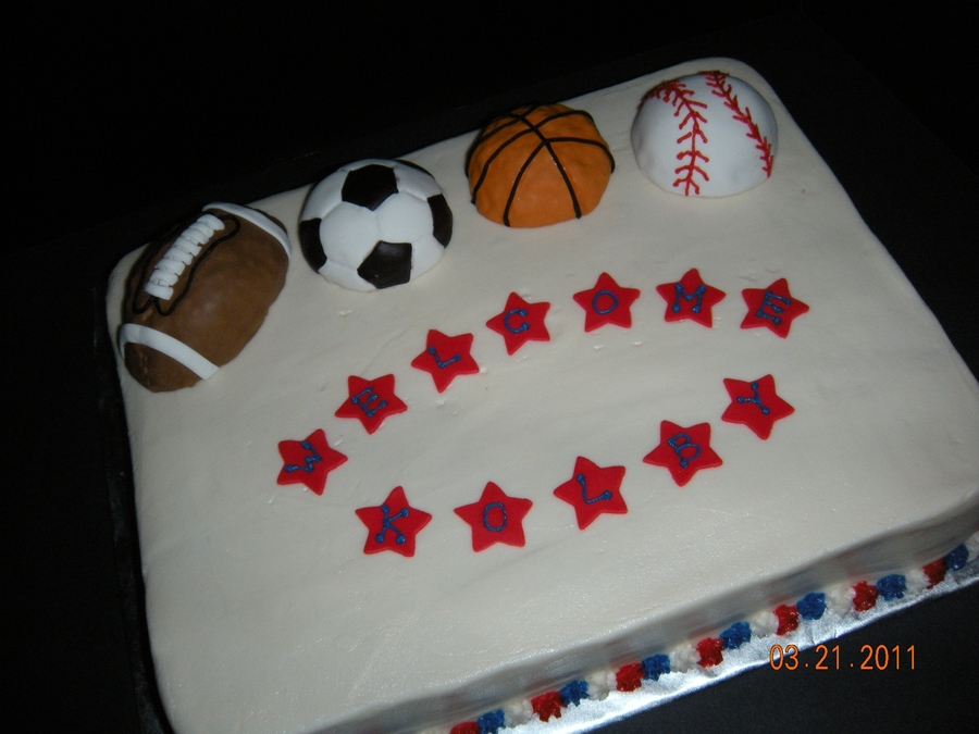 Sports Themed Baby Shower on Cake Central