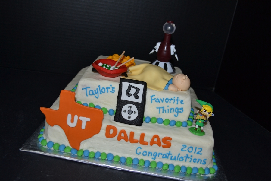 My Favorite Things Graduation Cake on Cake Central