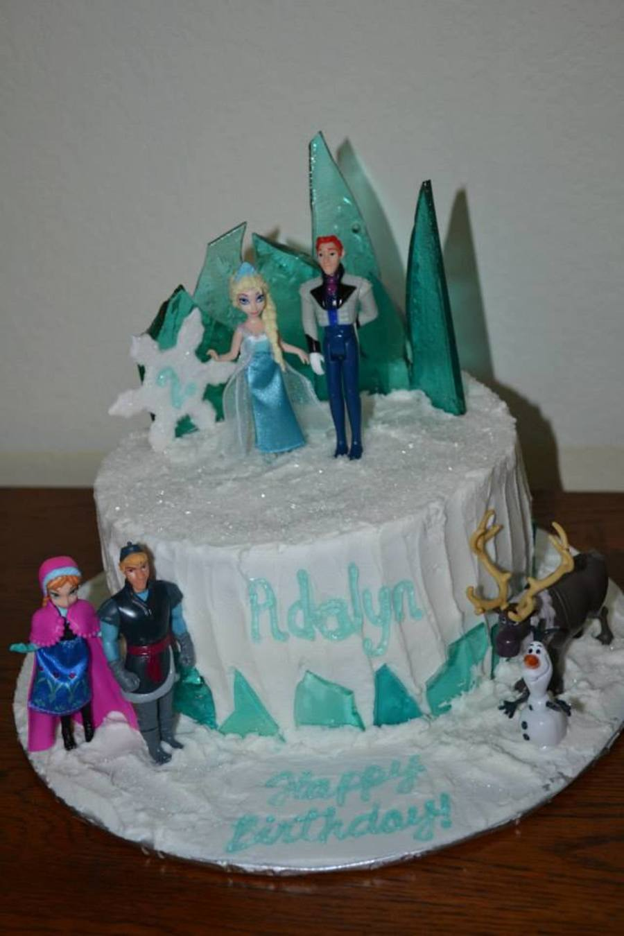 Frozen With Hard Rock Candy Ice Background Cakecentral Com