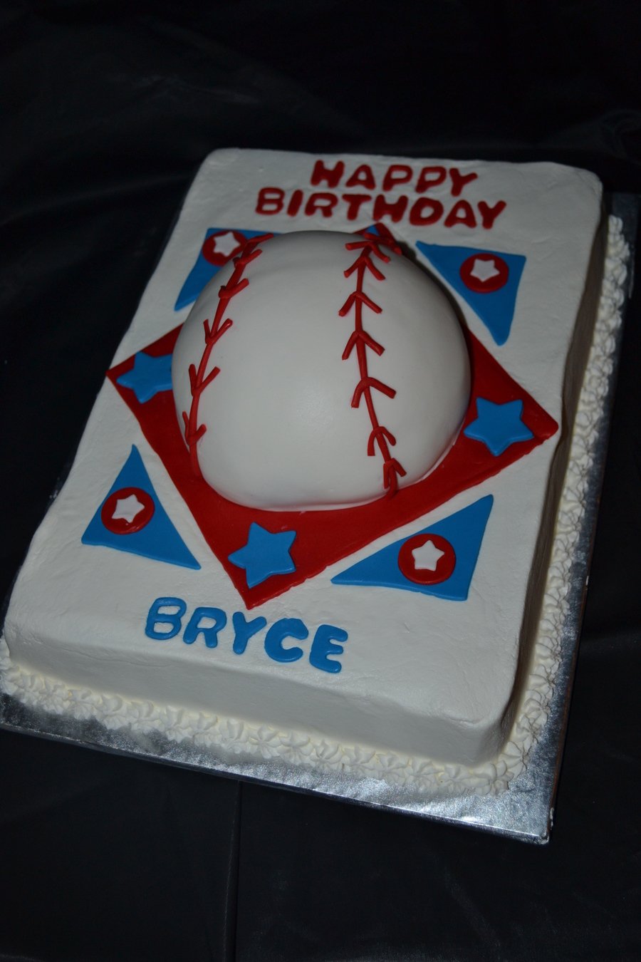 Fine Texas Rangers Baseball Red White Amp Blue Themed Birthday Cake Funny Birthday Cards Online Necthendildamsfinfo