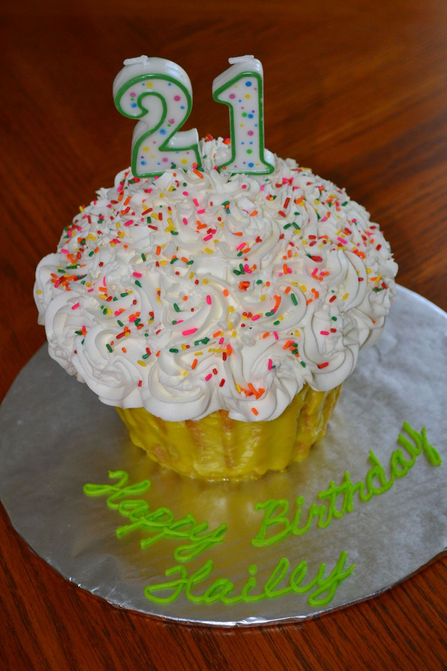 21St Birthday Cupcake on Cake Central